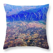 Aerial Usa. Los Angeles, California Throw Pillow