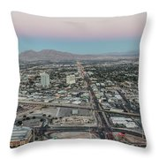Aerial View Of Las Vegas City Throw Pillow