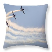 Aerobatic Group Formation  Throw Pillow