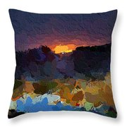African Colours Throw Pillow