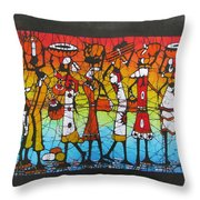 African Woman Carrying On Head Throw Pillow