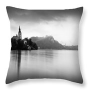 After The Rain At Lake Bled Throw Pillow
