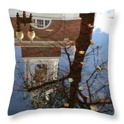 After The Rain In Boston Throw Pillow