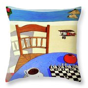 Afternoon Distractions Throw Pillow