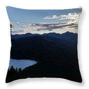 Agnes Lake Montana Throw Pillow