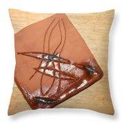 Agony - Tile Throw Pillow