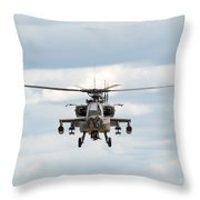 Ah-64 Apache Throw Pillow