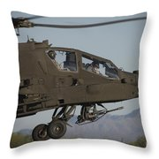 Ah-64d Apache Longbow Lifts Throw Pillow