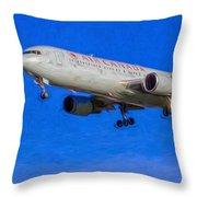 Air Canada Boeing 767 Art Throw Pillow