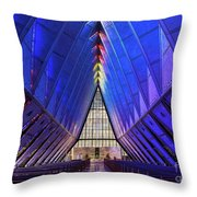 Air Force Academy Cadet Chapel Throw Pillow