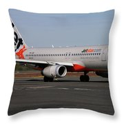 Airbus A320-232 Throw Pillow