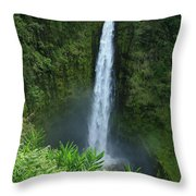Akaka Falls Throw Pillow