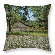 Alabama Cotton Field Throw Pillow