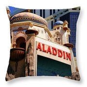 Aladdin Hotel Casino Throw Pillow