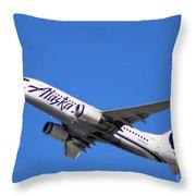 Alaska Airlines 737-800 Throw Pillow
