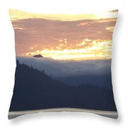Alaskan Coast, View Towards Kosciusko Or Prince Of Wales Islands Throw Pillow