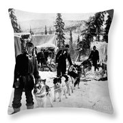 Alaskan Dog Sled, C1900 Throw Pillow