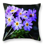 Alaskan Wild Flowers Throw Pillow