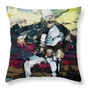 Albanian Traditional Costumes  Throw Pillow