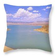 Albiquiu Reservoir, Route 84, New Mexico Throw Pillow