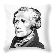 Alexander Hamilton - Founding Father Graphic  Throw Pillow