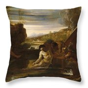 Alexander The Great Rescued From The River Cydnus Throw Pillow