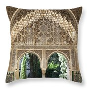 Alhambra Windows Throw Pillow