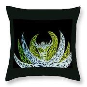 Alien Flower Throw Pillow
