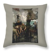 All Hands To The Pumps Throw Pillow