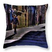 Alley Stroll Throw Pillow