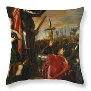 Allocution Of Marquis Del Vasto To His Troops Throw Pillow
