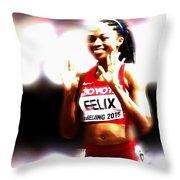 Allyson Felix Throw Pillow