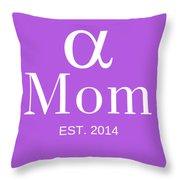 Alpha Mom Throw Pillow