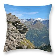 Alps Mountain Landscape  Throw Pillow