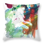 Amani African American Nude Fine Art Painting Print 4974.03 Throw Pillow