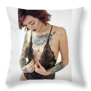 Amber 3 Throw Pillow