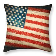 America Flag Throw Pillow by Setsiri Silapasuwanchai