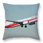 American Boeing 737-823 N915nn Phoenix Sky Harbor January 11 2015 Throw Pillow