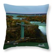 American Falls Niagara Throw Pillow