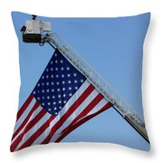 American Firefighter Throw Pillow