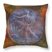 American Silver Eagle Dollar Throw Pillow