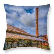 American Tobacco Campus Throw Pillow