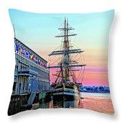 Amerigo Vespucci Tall Ship Throw Pillow