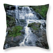 amicalola falls Ga Throw Pillow