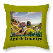 Amish Country T Shirt - Appalachian Blackberry Patch Country Farm Landscape Throw Pillow