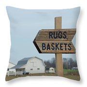 Amish Sign Throw Pillow