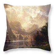 Among The Sierra Nevada, California Throw Pillow