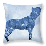 Amstaff-blue Throw Pillow