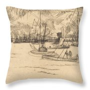 Amsterdam From The Tolhuis Throw Pillow