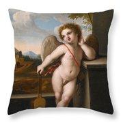 An Angel Holding A Guitar Throw Pillow